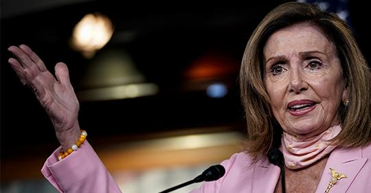 Nancy Pelosi sspeaking